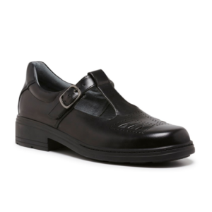CLARKS INGRID SNR BLACK HI-SHINE