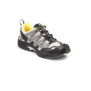 DR COMFORT MENS PERFORMANCE GREY:YELLOW