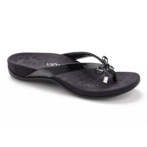 VIONIC WOMENS BELLA BLACK PATENT