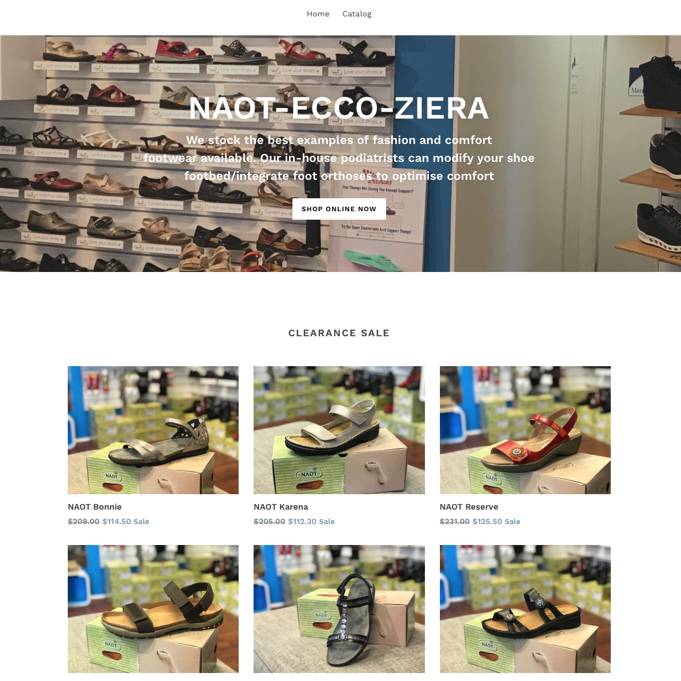 Buy shoes online on the Mornington Peninsula